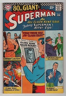 Superman #197 nice 80-page G-36 Giant 1967 DC Comics create-a-lot & save