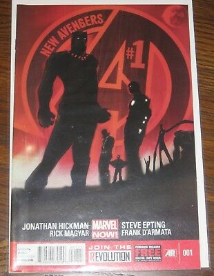 New Avengers Vol 3 #1 NM Jonathan Hickman Marvel Comics Black Panther Dr Strange