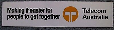 Telecom Australia Bumper Sticker New Old Stock