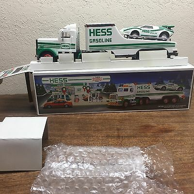 Vintage Hess Oil Co. Toy Truck & Racer~ 1991~ W/original Box ~ Very Collectible