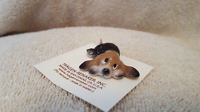 Hagen Renaker Dog Basset Pup Lying Figurine Miniature New Free Shipping 03155