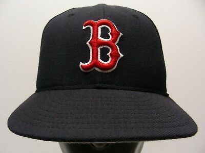 Boston Red Sox - Mlb - Vintage - New Era 59Fifty Size 6 7/8 Fitted Ball Cap Hat
