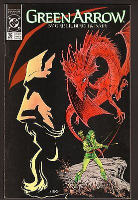 "Green Arrow #26--""Witch Hunt: Ollie of Sherwood""--1989 Comic Book"