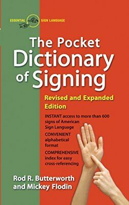 The Pocket Dictionary of Signing [American Sign La... by Mickey Flodin Paperback