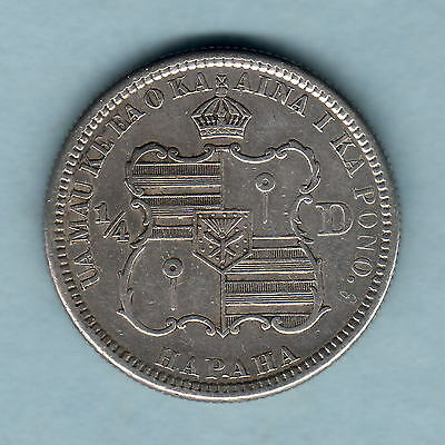 USA - Hawaii.  1883 Quarter Dollar.. aEF-EF