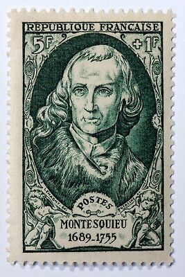 France Celebrities Stamp New N° 853 Mnh Montesquieu Charles Of Options B4