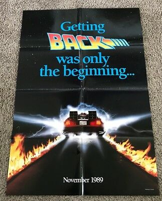 Original 1989 Back to the Future 2 Advance Movie Poster, Folded, DS, 27x40