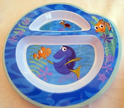 Disney Pixar Finding Dory 2 Compartment 2005 Melamine Plate by The First Years
