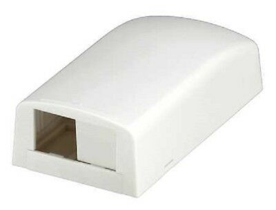 (2) Panduit CBX2WH-AY Multimedia Outlet Housing Low Profile Surface White 2-Port