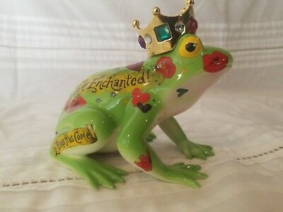 """Fanciful Frogs """"Frog Prince"""" By Westland Giftware Porcelain Figurine"""