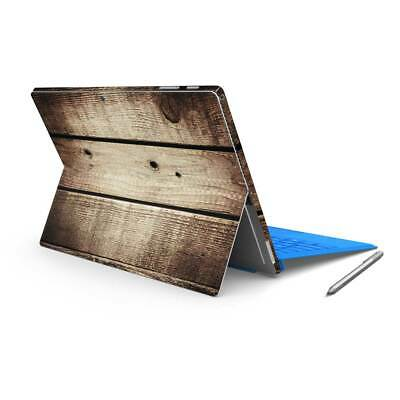 Vintage Wood Printed Vinyl Skin Sticker Wrap to Cover Surface Pro Back & Sides