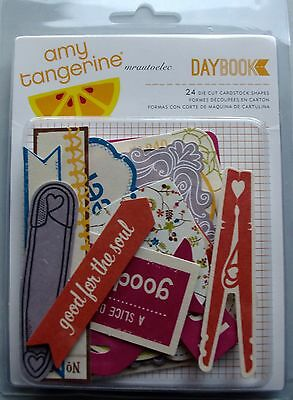 Amy Tangerine Daybrook Die Cut Cardstock Shapes Titles journaling boxes Friends