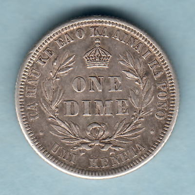 USA - Hawaii.  1883 Dime..   gVF/aEF - Part Lustre