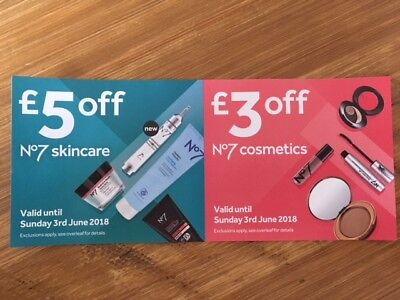 BOOTS No7 SKINCARE AND COSMETICS MONEY OFF VOUCHER SAVE £8 IN TOTAL