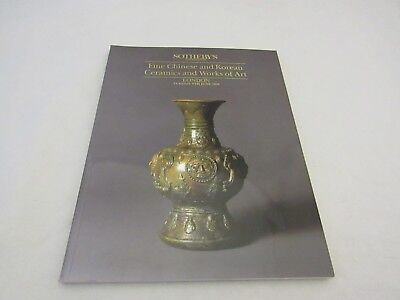 Sotheby's Fine Chinese and Korean Ceramics Works of Art London 9th June 1992
