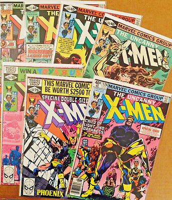 Uncanny X-Men Run Lot Of 7 High Grade Dark Phoenix Story Line #132 Thru #138