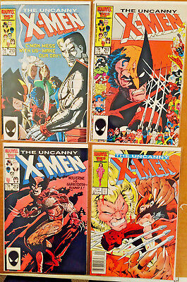 Uncanny X-Men Run Lot Of 4 Mutant Massacre 210 211 212 213