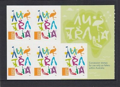 AUSTRALIA 2017 - NEW CONCESSION STAMP $1 P&S complete sheetlet of 5 MNH