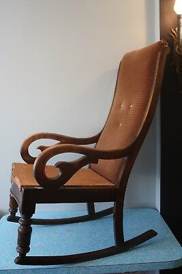 Antique Oak Rocking Chair - Early Victorian/Late Georgian? Needs restoration.
