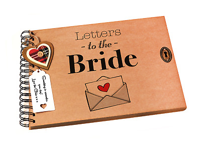 Letters To The Bride Sbook Photo Al Wedding Day Keepsake Gift A4