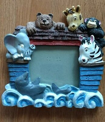 Noah's Ark Picture Frame Animals Photo Frame Genesis Baby Room Decor Moses