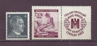 Bohemia & Moravia, Nazi Puppet, Nurse & Wounded Soldier & Hitler, MNH 1941,OLD