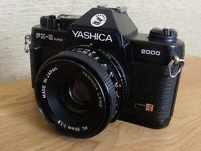 YASHICA FX-3 SUPER 2000 CAMERA WITH YASHICA ML 50mm 1:1.9 LENS UNTESTED