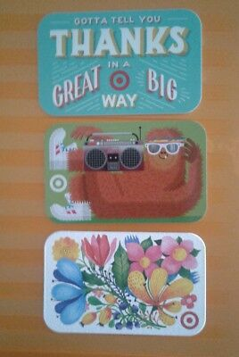 3 New Target Gift Cards, Summer,  Collectible, 2018, Mint