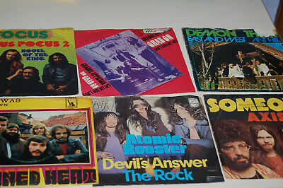 27 x Singles Beat Rock Frijid Focus Canned Heat Axis Atomic Rooster Demon Thor**