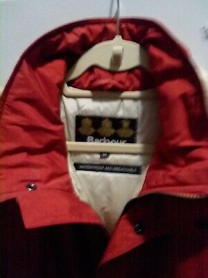barbour jacket- men's medium-red-long