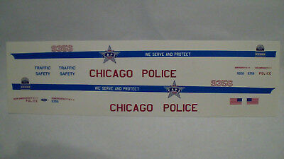 "1:18 "" Chicago ""  Police Decal"