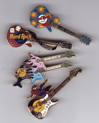 4 Las Vegas Rodeo Bangkok Guitar- Safety Clasp HRC Hard Rock Cafe PIN Spilla