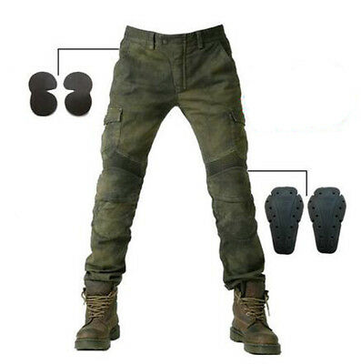Mens Fitted Motorcycle Jeans Motorbike Pants Denim Trousers off road Pads