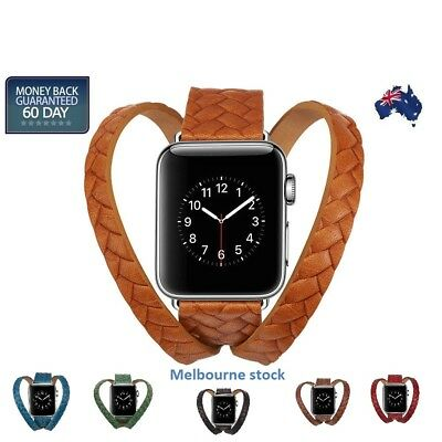 Leather Apple Watch Band Wrist Watch Band Strap Single iWatch 4 3 2 1 38/42mm