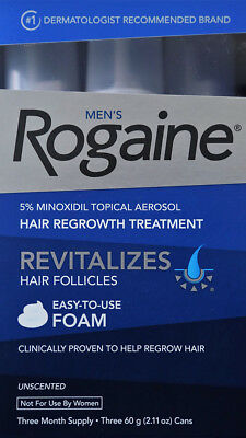 1-5 days FAST SHIPPING | FROM CANADA: Men's Rogaine 5% Minoxidil Foam 3 months