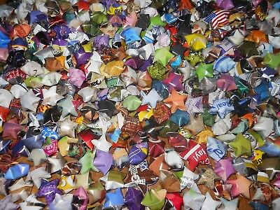 Handmade Lucky Paper Star Assorted Colors Finished Product (500 pcs.)