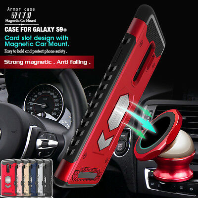 New Armor Case Cover Bumper Car Magnetic for Samsung Galaxy S7 S8 S9 Plus Note 9