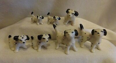 Porcelain Mini Animals ALL DALMATIANS Made in China Lot of 7