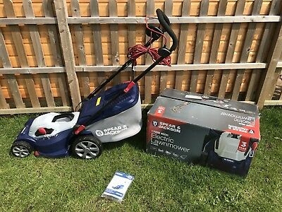 1700W USED USED Spear /& Jackson 40cm Corded Rotary Lawnmower