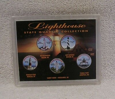Colorized Lighthouse State Quarter Coin Collection