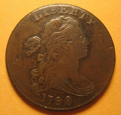 1798 Draped Bust Large Cent (Style-2 Hair, S-174 / R2) – Sharp & Attractive !