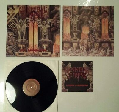 "CANNIBAL CORPSE - Live cannibalism + 7"" -  1ST PRESS Death Metal Vinyl - Maiden"