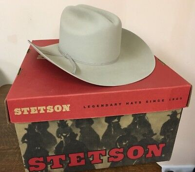 28eff926045d60 STETSON SF0575D440 COWB--R D4 Ranch Tan Cowboy Hat 6 7/8 *NEW in Box ...