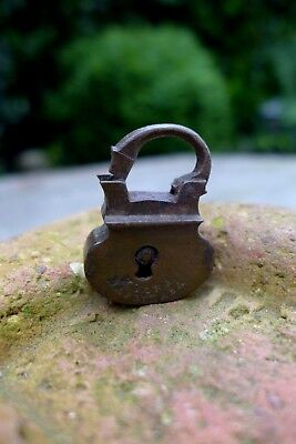 Antique Brass Padlock Old Russia No Key Rust Unique Rare Collector Shop 27-09