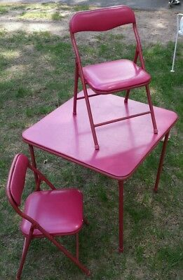 Vintage Kids Table and 2 Chairs Set Children's Furniture  Play Activity Room