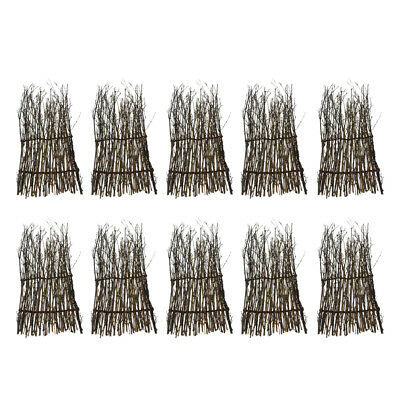 10x Bamboo Peeled Reed Screening Roll Garden Screen Fence Fencing Decor 23cm