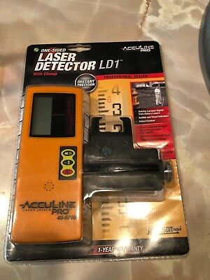 JOHNSON AccuLine Pro 40-6700 One-Sided Laser Detector with Clamp LD1 NEW