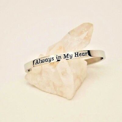 "Cremation Jewelry ""Always in my Heart"" Urn Bracelet 
