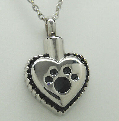 Heart Cremation Urn Necklace for Dog or Cat || Engraveable || Pet Loss Gift