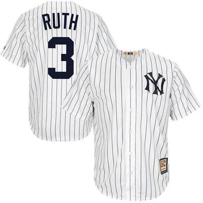 Babe Ruth , New York Yankees Baseball Jersey Pinstripes / Mens Official Majestic